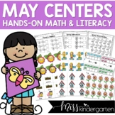 May Math and Literacy Hands-On Centers for Kindergarten
