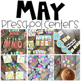 End of the Year Math and Literacy Centers Preschool May Themes