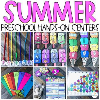 Summer Math and Literacy Centers Preschool: Beach & Ocean, *{NEW}*
