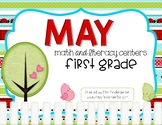 First Grade Math and Literacy Centers for May