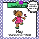 May Math and Literacy Printables and Activities For First Grade