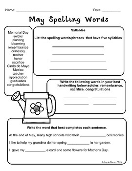 May Math and Literacy Printables for Upper Elementary