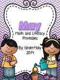 May Math and Literacy Printables