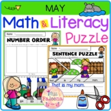 May Math and Literacy Puzzles