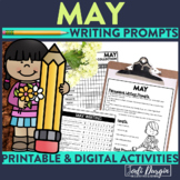 May Mega-Writing Packet {Task Card Prompts, Posters, & Writing Process}