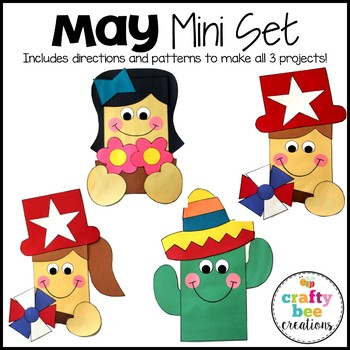 May Mini Set {Flowers for Mom, Memorial Day Kids, & Cinco De Mayo Cactus}