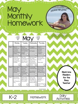May Monthly Homework