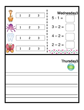 May Monthly Homework for Kindergarten- Editable