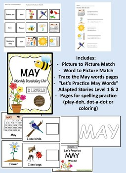 May Monthly Vocabulary Unit