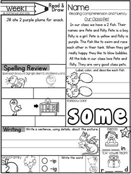 May Morning Bright {Kindergarten Literacy Morning Work}