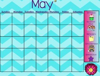 May Morning Calendar
