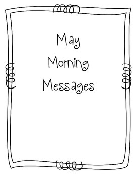 May Morning Message Book