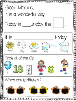 May Morning Message Math Time