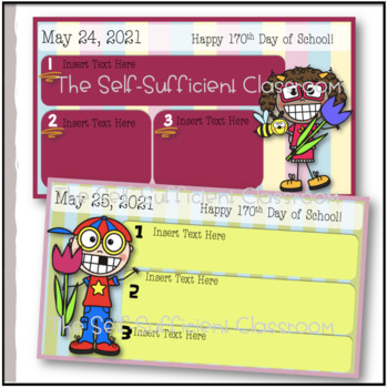 May Morning Message Slides~ EDITABLE!