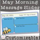 May Morning Message Slides~ EDITABLE!