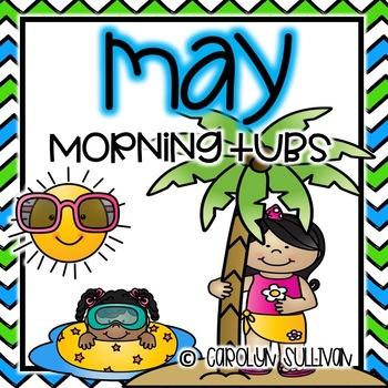 May Morning Tubs for Kindergarten