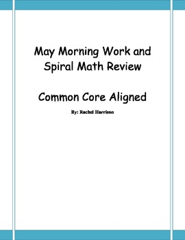 May Morning Work - Common Core Aligned