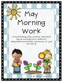 May Morning Work- Critical Thinking