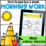 May Morning Work First Grade | Digital for use in Google C