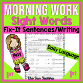 May Morning Work, First Grade~Language, Sight Word Practic