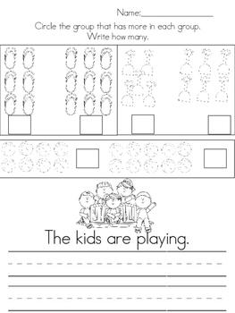May Morning Work (Kindergarten) FREE SAMPLE!