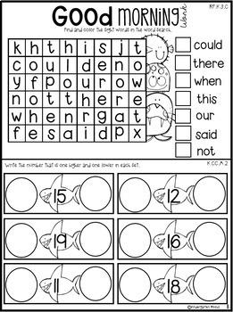 May Morning Work Notebook Unit 9 for Kindergarten