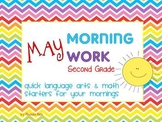 May Morning Work PowerPoint Second Grade Can be Edited