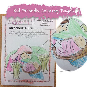 May Mother's Day Bible NO PREP Stories, Coloring, Craft, Religious Lessons