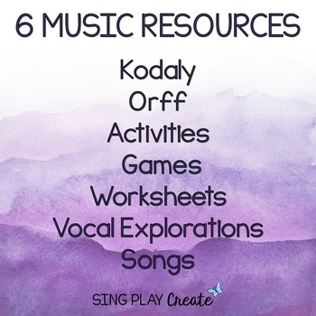 Music Class May Lesson Bundle: Songs, Games, Printables, Kodaly and Orff