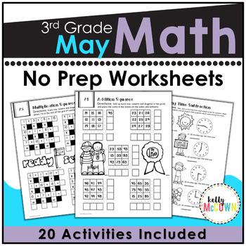 May NO PREP Math Packet - 3rd Grade