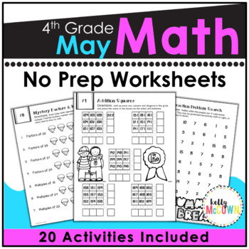 May NO PREP Math Packet - 4th Grade