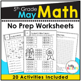 May NO PREP Math Packet - 5th Grade