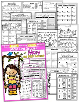 May NO PREP Math and Literacy (3rd Grade)
