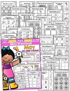 May NO PREP Packet (Preschool)