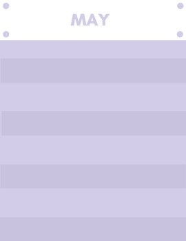 May Newsletter Template Purple