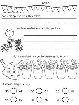 May No Prep Math & Literacy Daily Review