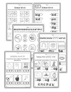 May No-Prep Kindergarten Math and Literacy Packet