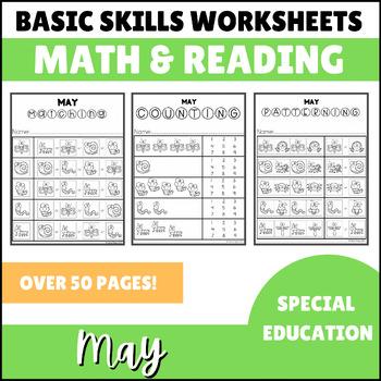 May No Prep Math Basic Skills Unit for Special Ed Classroom