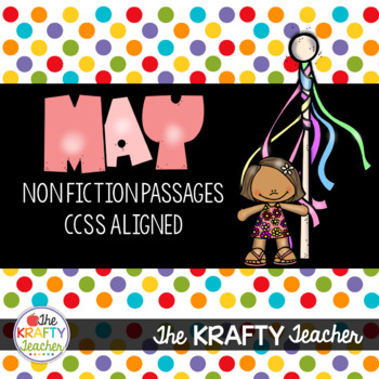May NonFiction Reading Comprehension Passages for 2nd & 3rd
