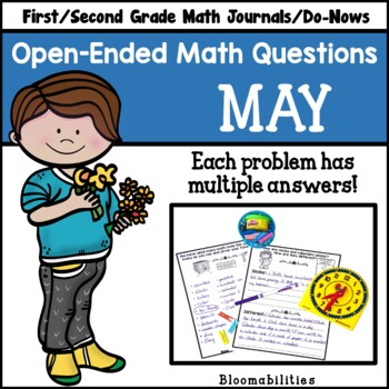 May Open-Ended Math Questions for Journals or Do-Nows (First/Second Grade)