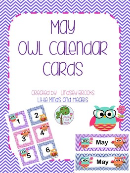 May Owl Calendar Cards and Headers