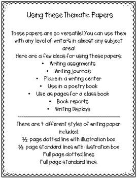June Writing Paper Bundle
