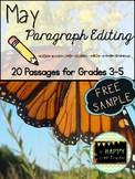 May Paragraph Editing Freebie for Grades 3-5