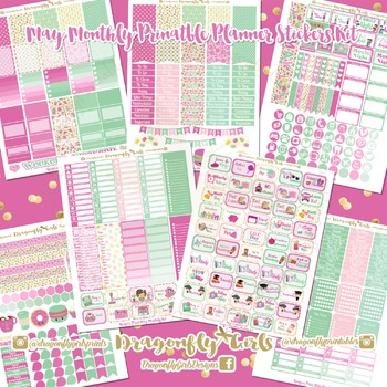 May Planner Stickers Kit
