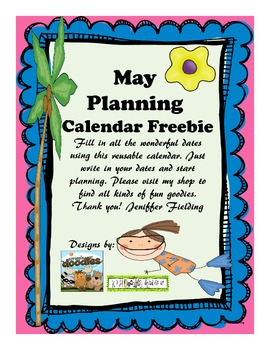 May Planning Calendar