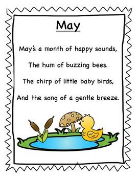 May Poetry Kindergarten & First Grade