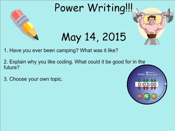 May Power Writing Prompts on SmartNotebook