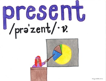 May Present Cartoon--Printable Montessori Homograph Card