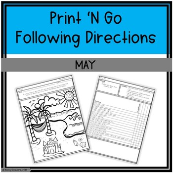 May Print 'N Go Following Directions Packet