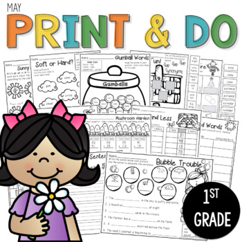 Printables May Print and Do- No Prep Math and Literacy 1st Grade